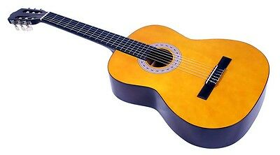 "New 36"" 3/4 Size Classical Childs Natural Wooden Guitar Beginners Kids Starter"
