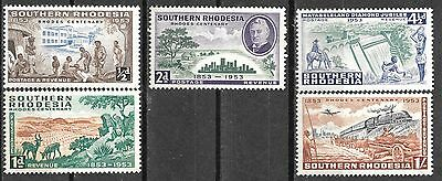 Southern Rhodesia 1953 Rhodes Centenary Mnh Complete Set 2880
