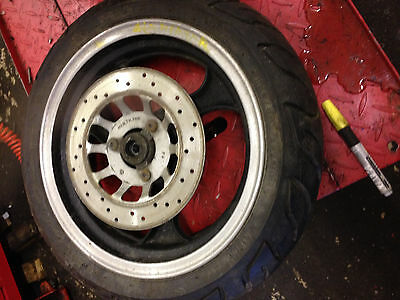 lexmoto gladiator front wheel tyre disc very good tyre and brake disc
