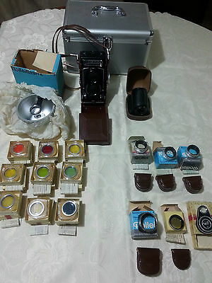 Rolleiflex camera, Filters, Lens, Flash and more