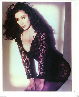 "Cher 8"" x 10"" Color Photo-Save Up All Your Tears Era-#188-1980s"