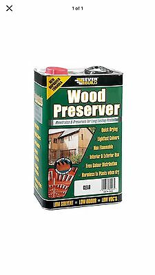 Clear Lumberjack Wood Preserver Everbuild 5 L Litre  Treatment Protection
