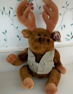 "Ty Attic Treasures ""Montgomery"" 15-Inch Moose with Tags"