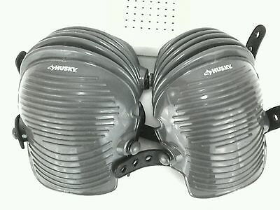 Husky Rubber Concrete Gear Hard Protective Safety Flexible Knee Pads EUC