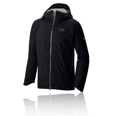 Mountain Hardwear Torzonic Hombre Negro Impemeable Running Capucha Chaqueta Top