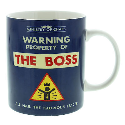 Ministry of Chaps The Boss Men's Tea Coffee Ceramic Mug Novelty Gift for Him
