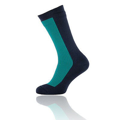 Sealskinz Mid Unisex Azul Impemeable Exterior Caminar Hiking Largo Calcetines