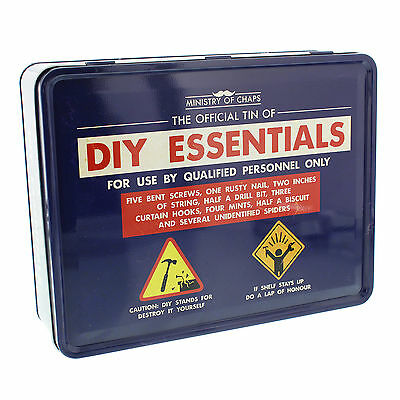 Ministry of Chaps DIY Men's Essentials Tin Storage Container Novelty For Him