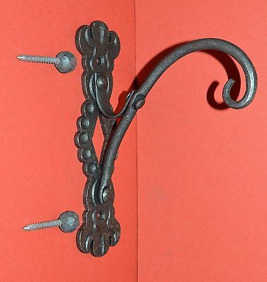 Wrought Iron,Elegant Shepards Scroll Wall Hook, Hanger,with Ball Screws