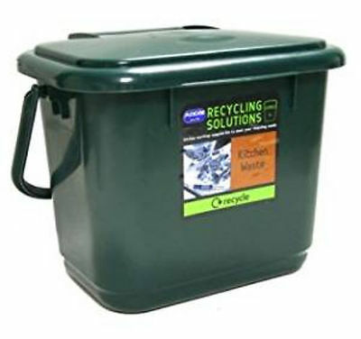 Addis 5 Litre Kitchen Compost Bin Plastic Food Waste Caddy Recycling DARK GREEN