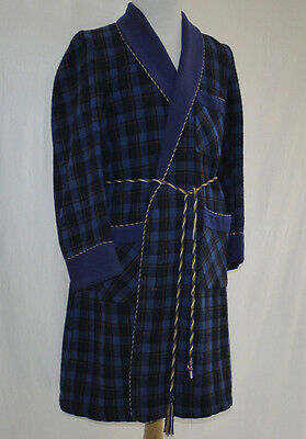 CLASSIC 60's VINTAGE McGREGOR WOOL BLEND DRESSING GOWN HOUSE SMOKING ROBE S-M