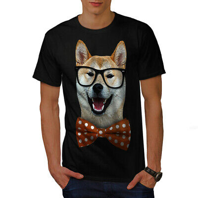 Wellcoda Smart Shiba Inu Dog Mens T-shirt, Sharp Graphic Design Printed Tee