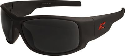 EDGE EYEWEAR - HZ136 Caraz Black with Red Logo Safety Glasses w/ Smoke Lens