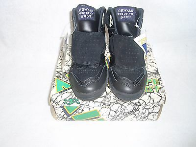 NOS VINTAGE 1980's AIRWALK PROTOTYPE SIZE 5 BLACK/PURPLE SKATEBOARD BMX SHOES