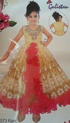 New Indian asian anarkali kameez  kaftan long MIDI  size 22-32 for girls