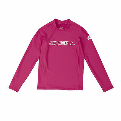 O'Neill Rash Vests - O'Neill YOUTH BASIC SKINS L/S CREW  - WATERMELON