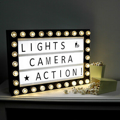Personalised Message A3 Wedding Party Cinema Plaque Shop Home Letter Light Box