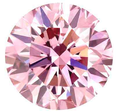 New FANCY PINK ROUND Loose Lannyte Lab Created Diamond Flawless 1,2,3,4,5,6 ct