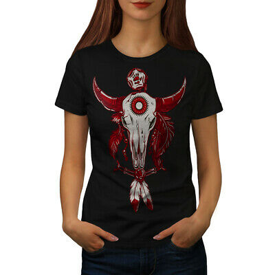 Indian Buffalo Skull Women T-shirt NEW | Wellcoda