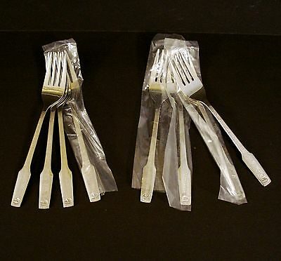 """8 Vtg EASTERN AIRLINES 6"""" Stainless Steel FORKS by ABCO"""