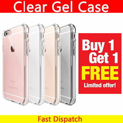 GEL Clear Case Cover For Apple iPhone 7 6s Plus