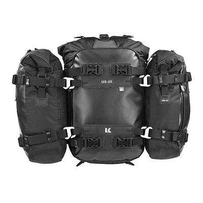 Kriega US-COMBO 30 100% waterproof, universal tailpack system for any motorcycle