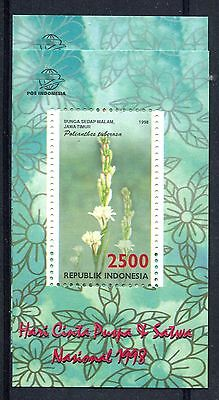 Indonesia 1998 Flower Fauna & Flora MS MNH