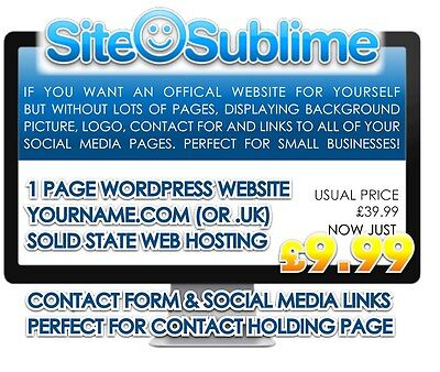 1 Page Professional Responsive Wordpress Website Designed For You