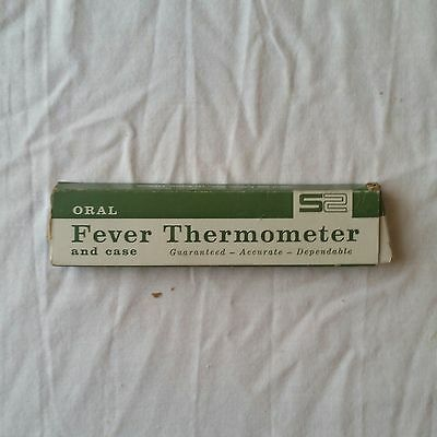 Vintage Fever Thermometer Box With Certificate
