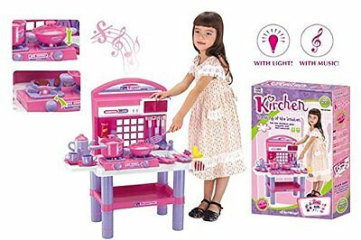 Kids Child Kitchen Cooking Role Playset Toy Cooker Plastic Game Fun Toys New