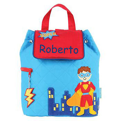 Toddler Backpack Personalized Stephen Joseph Super Hero New Custom Name