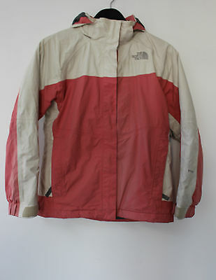 The North Face Girls Size Large Hyvent Coat, Off White/Pink