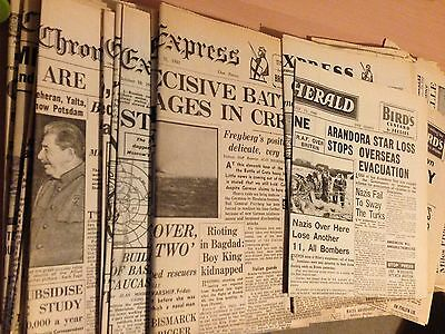 Collection Of 1940's Reprinted Vintage Newspapers