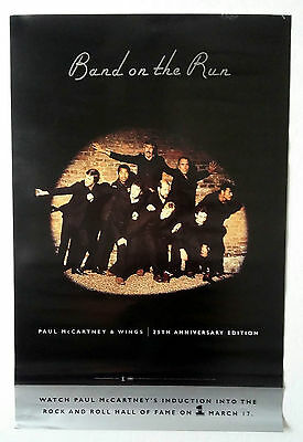 """Paul Mccartney Wings (Beatles) """"Band On The Run"""" 25 Anv Us Promo-Only Poster New"""