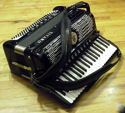 Titano Continental Musette 120 #2 Accordion Electric Organette Tube Chamber Ex++