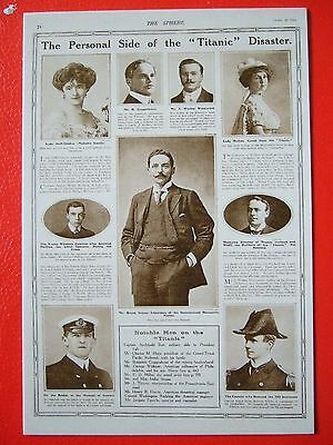 R M S Titanic Postcard- The Personal Side Of The Titanic Disaster