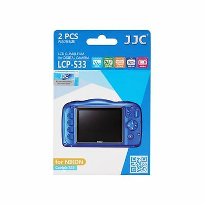 JJC LCP-S33 LCD Screen Protector Guard Film Cover for NIKON Coolpix S33