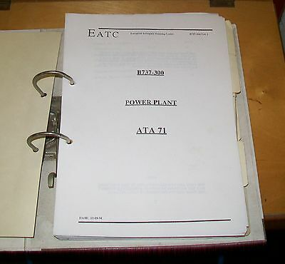 Boeing 737-300 Airliner Power Plant Cfm56  Training Course Notes. 1 Volume