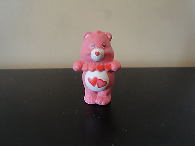 "Vintage 1984 Care Bears 2"" Pvc Figure Love A Lot Bear Htf"