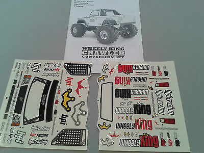 Hpi Instruction Manual & Decals Only : Wheely King Crawler Conversion Set
