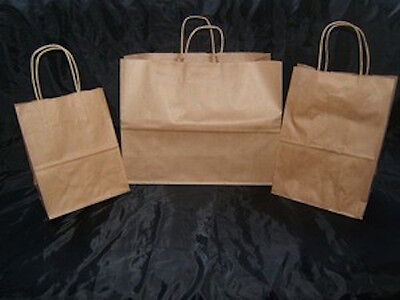 WHOLESALE 225 NATURAL BROWN SET OF 8x10 8x14 & 16x12 PAPER SHOPPING GIFT BAGS