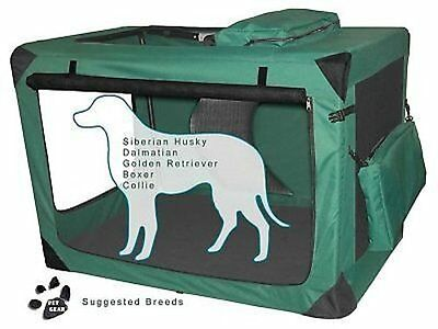 "Pet Gear Generation II Deluxe Portable Soft Dog Cat Pet Crate 42"" Moss Green"