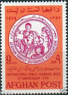 Afghanistan 1973 Stamps Family Planning MNH