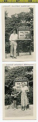 (2) Old 1940's photos / ROCK CITY Photographers Title Card - Lookout Mountain TN