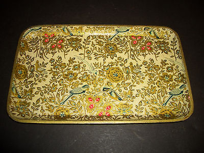 VINTAGE ALCOHOL PROOF TRAY JAPAN Flowers and Birds
