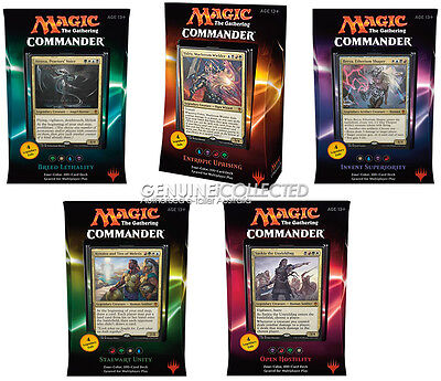 COMMANDER DECK set of 5 x 156-card 2016 MTG | Magic the Gathering WoTC