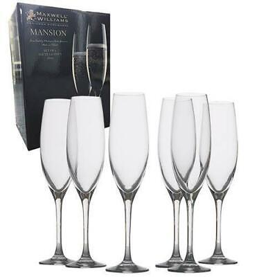 Maxwell & Williams Mansion Champagne Flute 500mL Glass, 6 Pc Set, Gift Box