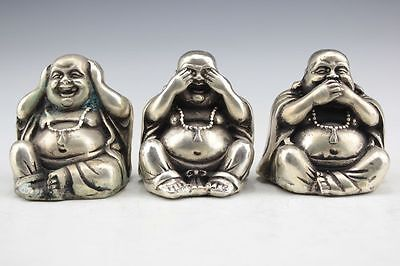 Vintage Collectible Hand Carved Laughing Buddha Statue