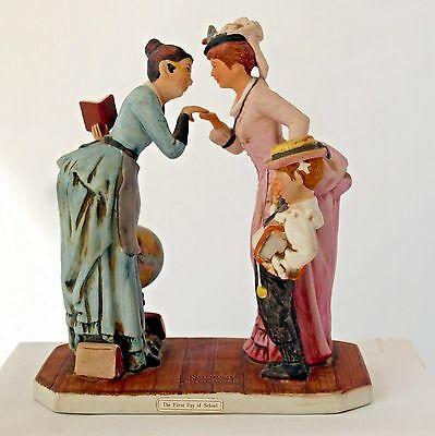 """Norman Rockwell """"First Day of School"""" Ceramic Figurine"""