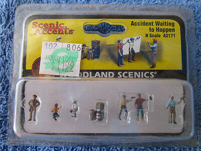 Accident Waiting To Happen, Woodland Scenics, N Scale, Unopened, Great Condition